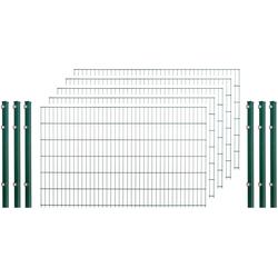 Arvotec Doppelstabmattenzaun, 5 Stk., LxH: 10x1,2 m, grün