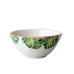 Rice Tropical Leaf Schüssel D:16 cm Keramik