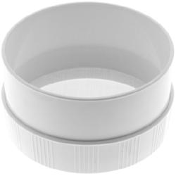 SCHNEIDER Puderzuckersieb, Puderzuckerdurchschlag aus Kunststoff mit praktischen Rillen, Durchmesser: 185 mm