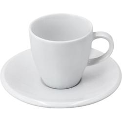Retsch Arzberg Espressotasse Novo, (Set, 12 tlg., 6 Espresso Obertasse-6 Untertasse), Obertassen, Untertassen weiß Becher Tassen Geschirr, Porzellan Tischaccessoires Haushaltswaren
