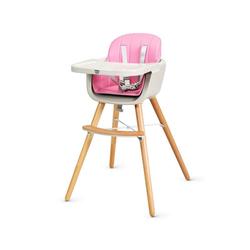 COSTWAY Hochstuhl Kinderstuhl Kombihochstuhl mit einstellbares Esstischchen, 52 x 54,5 x 83 cm rosa 54.5 cm x 83 cm x 52 cm