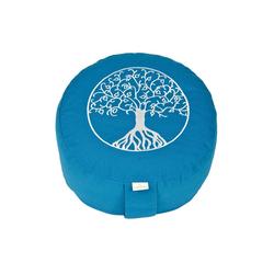 yogabox Yogakissen Glückssitz Lebensbaum blau