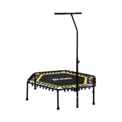 Gymrex Trampoline de fitness avec barre de maintien - Jaune GR-HT110R
