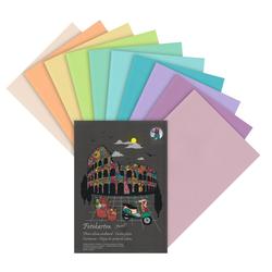 URSUS Papierkarton Fotokarton-Block Pastell A4, 10 Blatt