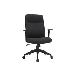 Designer-Bürostuhl schwarz Stoff ZELLY