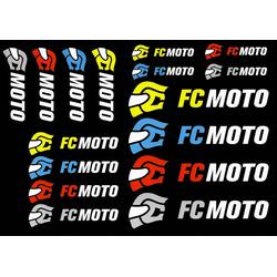 FC-Moto Logo Stickerset, Eén maat