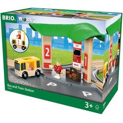 BRIO® Spielzeug-Eisenbahn BRIO World 33427 Bus- und Zugbahnhof, (Set)