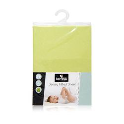 Lorelli Betthimmel Spannbettuch Jersey 60 x 120 cm, Bettlaken Babybetten, waschbar grün