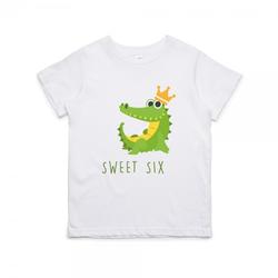 """Kinder T-Shirt zum 6. Geburtstag """"sweet six"""""""