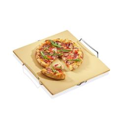 KÜCHENPROFI Pizzastein 38 x 35,5 cm mit Gestell