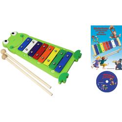 Clifton Spielzeug-Musikinstrument Metallophon Frosch bunt Musikspielzeug Musikinstrumente Spielzeug-Musikinstrumente