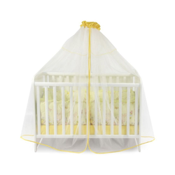 Lorelli Betthimmel Babybetthimmel Baldachin 480 x 150 cm, Insektenschutz Babybett Laufstall gelb