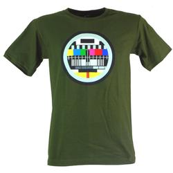 Guru-Shop T-Shirt Fun T-Shirt `Testbild` - grün XL