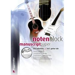 Voggenreiter Notenblock mit Tabulatur (DIN A4)