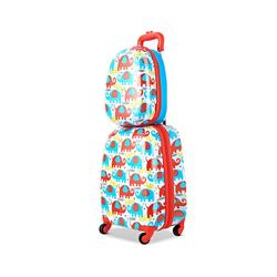 COSTWAY Kinderkoffer Kinder Kofferset, Kindergepäck, Reisegepäck, 2tlg Kinderkoffer + Rucksack