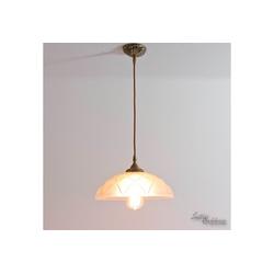 Licht-Erlebnisse Deckenleuchte ELISA Deckenlampe Jugendstil Premium Echt-Messing E27 Esstisch