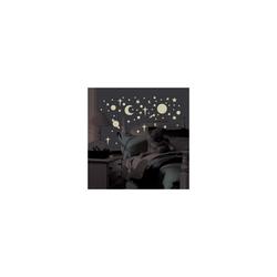 RoomMates Wandsticker Wandsticker Leuchtsterne & Planeten, Glow in Dark,