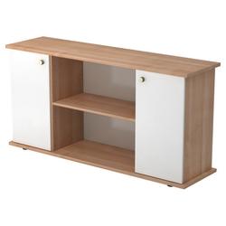 KAPA SB | Sideboard | mit Türen - mit Knauf Nussbaum/Weiß Sideboard
