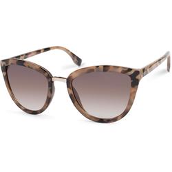 styleBREAKER Sonnenbrille Cateye Sonnenbrille mit Metallsteg Getönt braun