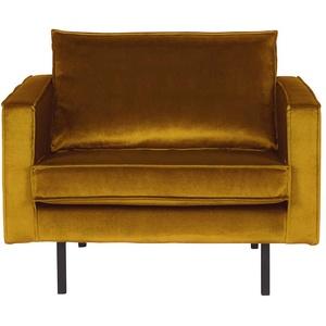 Retro Sessel in Gelb Samtbezug