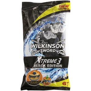 Wilkinson Xtreme 3 Black Edition Einwegrasierer, 6 Stück