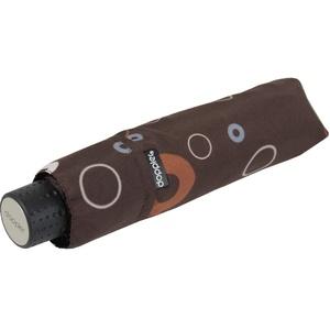 Doppler Mini Taschenschirm Havanna sturmfest leicht - Party Rings - Chocolat
