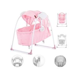 Chipolino Babywippe Babywiege Gia, elektrisch Matratze, Musik, Kissen, Musik, Fernbedienung rosa