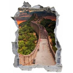 DesFoli Wandtattoo China Mauer Bauwerk Asien E0767 90 cm x 67 cm