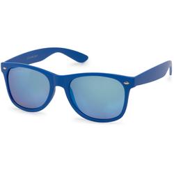 styleBREAKER Sonnenbrille Verspiegelte Nerd Sonnenbrille Verspiegelt blau