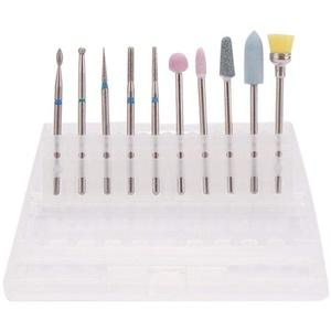 Leikance Nagelhaut-Bohrer-Set, Diamant-Nagelfräser, Wolframstahllegierung, Schleifkopf-Set für Maniküre, 10 Stück
