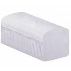 Papierhandtücher, 24 x 21 cm, 2- lagig, Weiße Papiertücher aus Recyclingpapier, 1 Karton = 4.000 Blatt, weiss