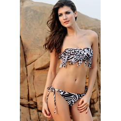 Zebra Bikini mit Fransen
