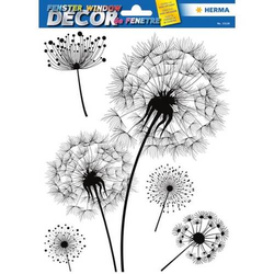 Fensterbild Decor Pusteblume 1 Blatt