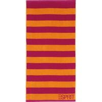 Esprit Block Stripe Handtuch 50 x 100 cm raspberry