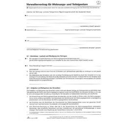 Anstellungsvertrag Verwalter-Vertrag A4 5 Blatt