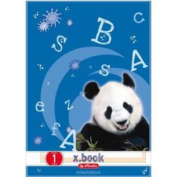 Arbeitsblätterblock A4 50 Blatt Lineatur 1 FSC Mix