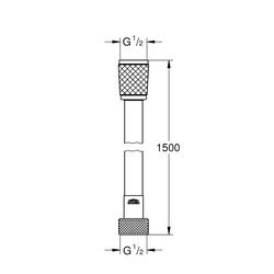 Grohe Brauseschlauch Relexaflex, L: 1,5 m, 1/2 Zoll