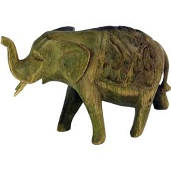 Guru-Shop Dekofigur Kleine Deko Figur, Holzfigur Elefant - Modell 1
