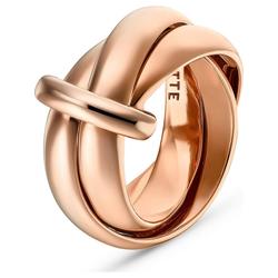 JETTE Fingerring JETTE Damen-Damenring 925er Silber rosa 55