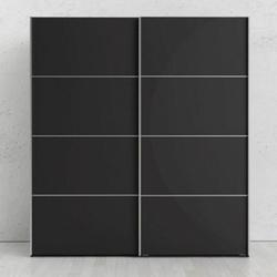 Kleiderschrank Veto 2 trg schwarz matt Schlafzimmer Schrank Schiebetürenschrank