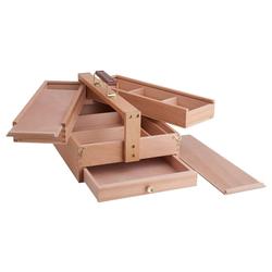 VBS Aufbewahrungsbox, Buchenholz, 34 cm x 24 cm x 19 cm