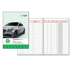 SIGEL Formularbuch FA513 Fahrtenbuch, Pkw mit Kraftstoffverbrauch