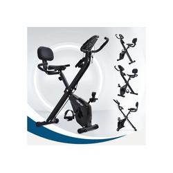 Gotui Heimtrainer, X-Bike Heimtrainer mit Pulssensoren, Fitnessrad für Heimtrainer, gepolsterter Sitz und Rückenlehne, Schwarz