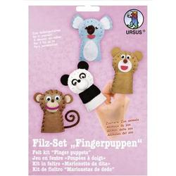 Filz-Set Fingerpuppen Zoo-Tiere