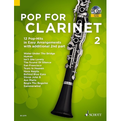Pop For Clarinet für Clarinet m. Audio-CD. Vol.2