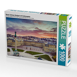 Neues Schloss Stuttgart mit Schlossplatz Lege-Größe 64 x 48 cm Foto-Puzzle Bild von Marc Feix Photography Puzzle