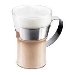 Bodum Assam Kaffeeglas Griff aus Chrom 350 ml 2 Stk
