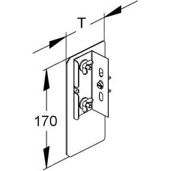 Niedax Alu-Enddeckel DAEDL 170 N