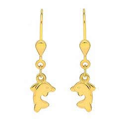 Adelia´s Paar Ohrhänger 333 Gold Ohrringe / Ohrhänger Delphin