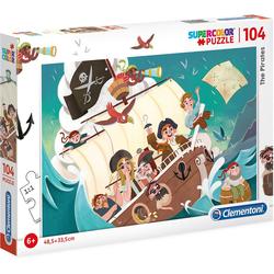 Clementoni® Puzzle Puzzle 104 Teile - Piraten, Puzzleteile